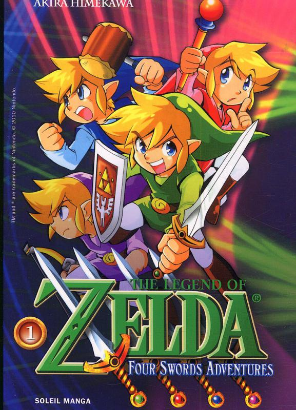 The legend of Zelda - Four swords adventures T1, manga chez Soleil de Himekawa