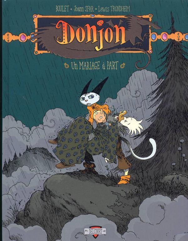 Donjon zénith T5 : Un mariage à part (0), bd chez Delcourt de Trondheim, Sfar, Boulet