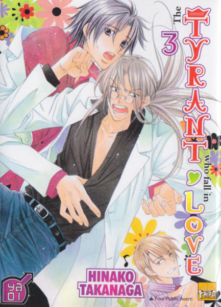 The tyrant who fall in love T3, manga chez Taïfu comics de Takanaga
