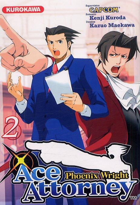 Ace attorney Phoenix Wright T2, manga chez Kurokawa de Kuroda, Capcom , Maekawa