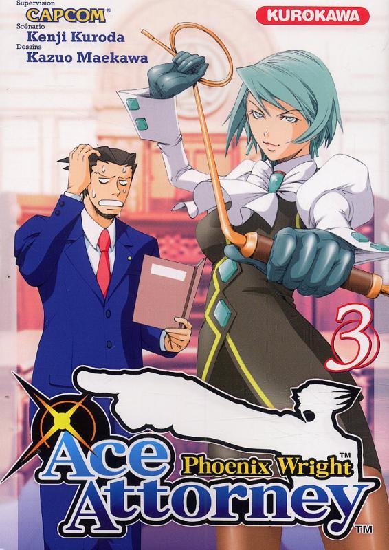 Ace attorney Phoenix Wright T3, manga chez Kurokawa de Kuroda, Capcom , Maekawa