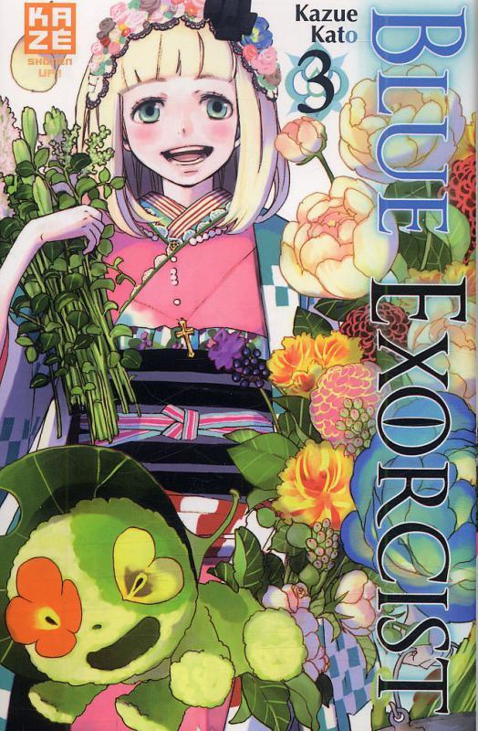 Blue exorcist T3, manga chez Kazé manga de Kato