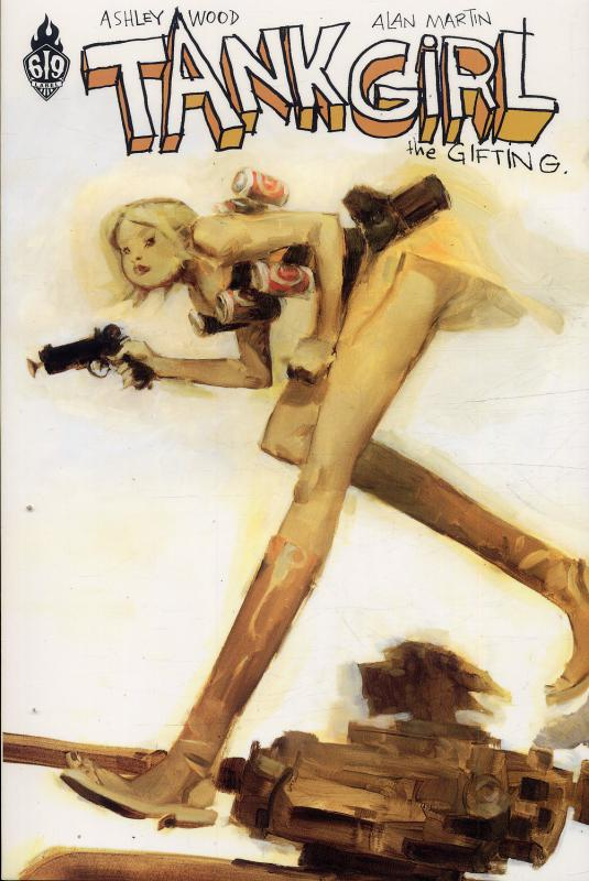 Tank Girl T5 : The gifting (0), comics chez Ankama de Martin, Dayglo, Wood