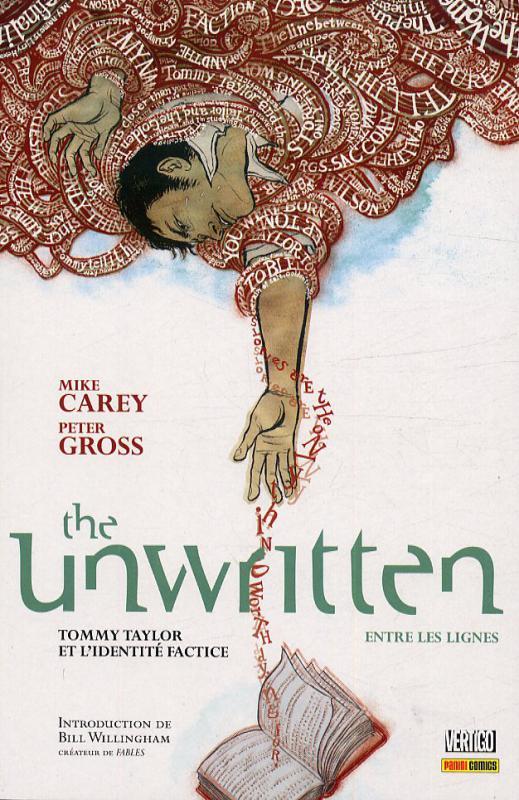 The Unwritten - Entre les lignes T1 : Tommy Taylor et l'identité factice (0), comics chez Panini Comics de Carey, Gross, Chuckry, McGee, Shimizu