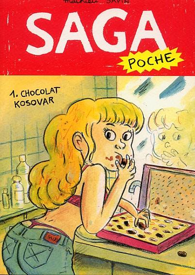 Saga poche T1 : Chocolat Kosovar (0), bd chez Delcourt de Sapin