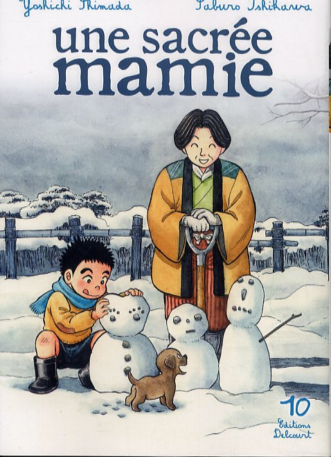 Une sacrée mamie T10, manga chez Delcourt de Shimada, Ishikawa