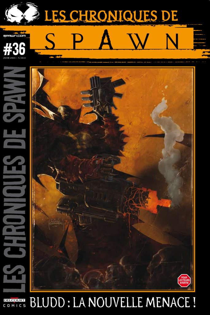 Les chroniques de Spawn T36 : Bludd : la nouvelle menace ! (0), comics chez Delcourt de Blengino, McFarlane, Kirkman, Carlton, Kudranski, Capullo, Erbetta, Rizzu, FCO Plascencia