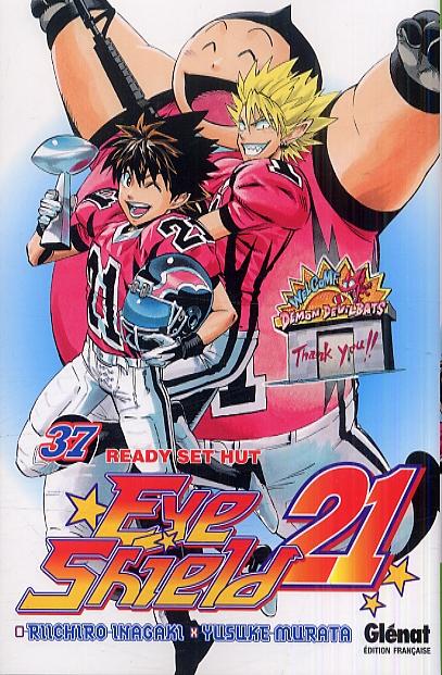 Eye Shield 21 T37 : Ready set hut (0), manga chez Glénat de Inagaki, Murata