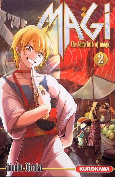 Magi, the labyrinth of magic  T2, manga chez Kurokawa de Ohtaka