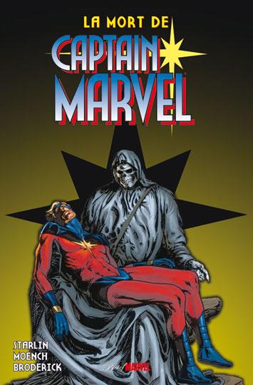 La mort de Captain Marvel, comics chez Panini Comics de Broderick, Englehart, Patterson, Starlin, Moench, Oliff