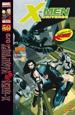 X-Men Universe – Revue V 1, T6 : La malédiction des mutants (3/5) - X-Men vs Vampires (0), comics chez Panini Comics de Heinberg, Gischler, Lewis, David, Remender, Opeña, Medina, Manco, De Landro, Coipel, Cox, Ponsor, White, Gracia, Ribic