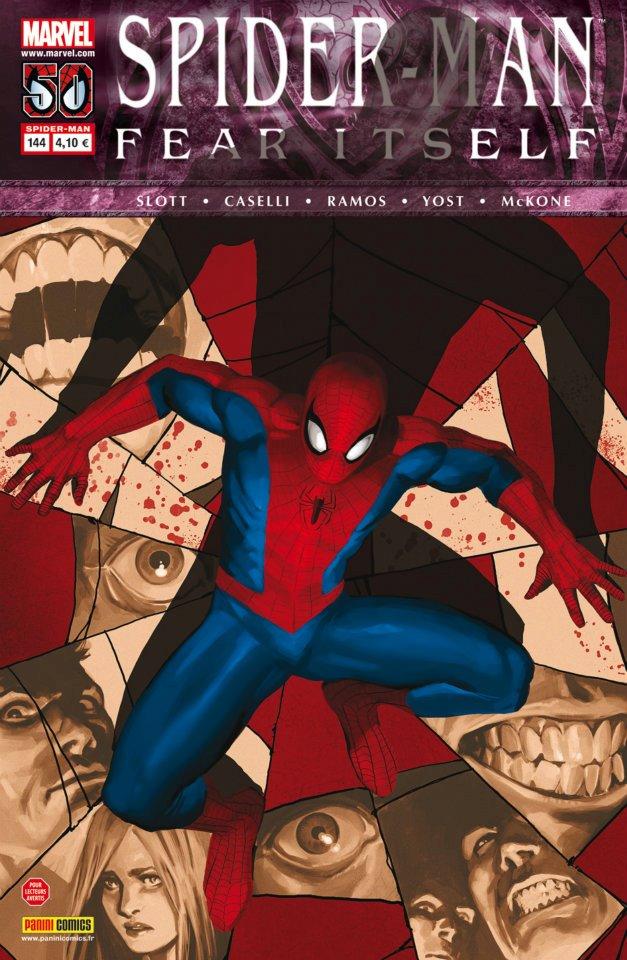 Spider-Man (revue) – V 2, T144 : Le premier jour (0), comics chez Panini Comics de Van Lente, Yost, Slott, Caselli, Mckone, Ramos, Delgado, Cox, Djurdjevic