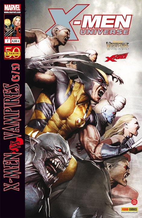 X-Men Universe – Revue V 1, T7 : La malédiction des mutants (5/5) - X-Men vs Vampires (0), comics chez Panini Comics de Liu, Remender, Gischler, Way, Opeña, Pierfederici, Medina, White, Gracia, Granov