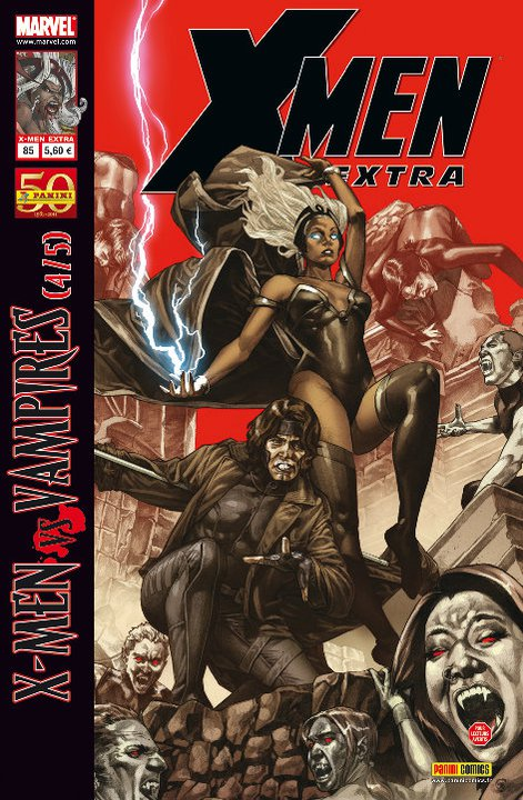 X-Men (revue) – Extra, T85 : La malédiction des mutants (4/5) - X-Men vs Vampires (0), comics chez Panini Comics de David, Spurrier, Kim, Asmus, Bachalo, Bertilorenzi, Raney, Walta, Rauch, Loughridge, Fabela, Suayan