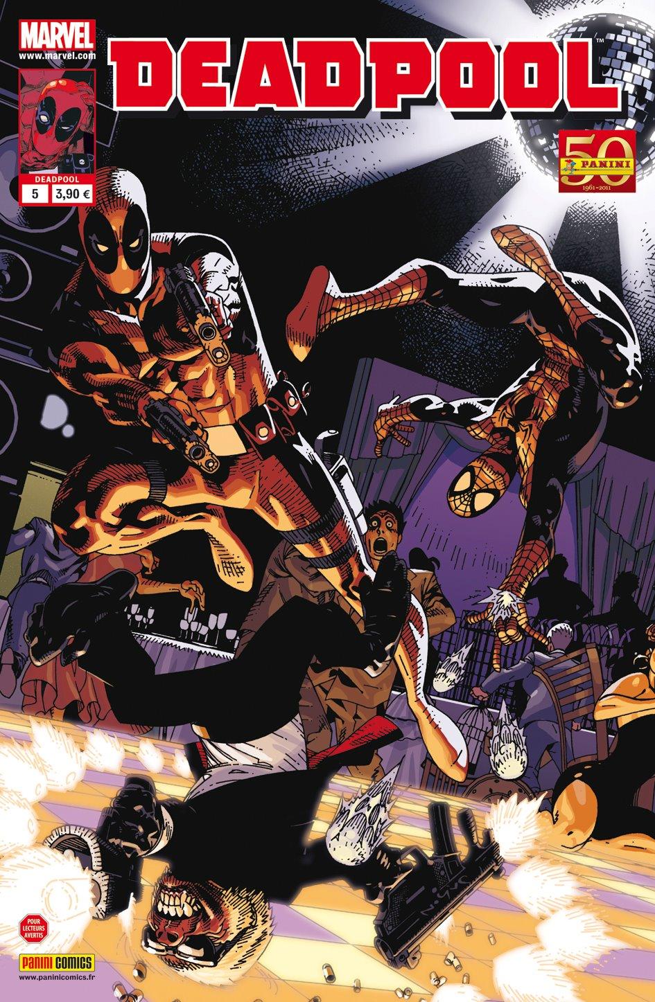 Deadpool (revue) – V 2, T5 : Les crétins rêvent-ils d'inepsies électriques ? (0), comics chez Panini Comics de Way, Huat, Barbieri, Gracia, Pearson
