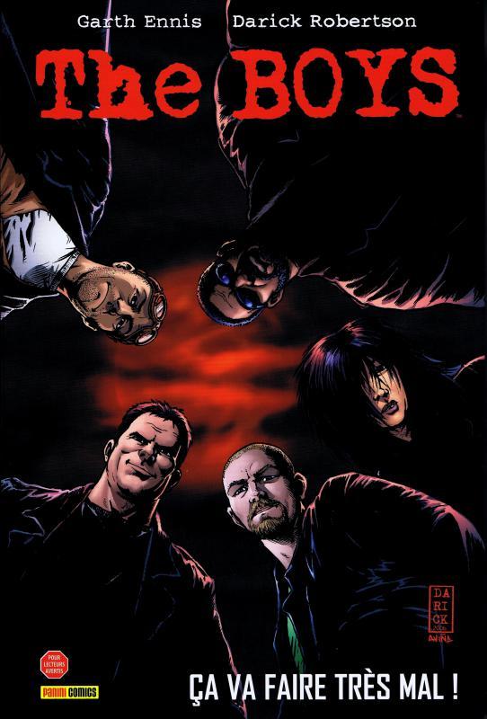 The Boys – édition Deluxe, T1 : Ça va faire très mal ! (1), comics chez Panini Comics de Ennis, Robertson, Snejberg, Aviña
