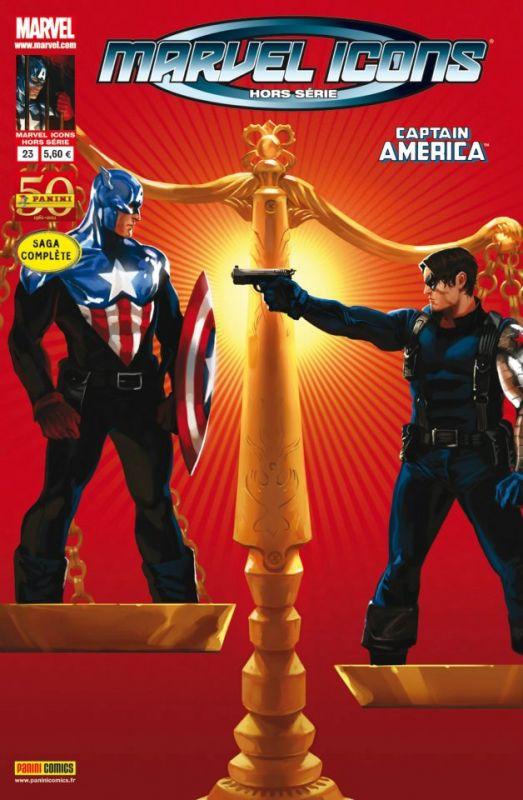 Marvel Icons - Hors série T23 : Le procès de Captain America (0), comics chez Panini Comics de Brubaker, Acuña, Guice, Martin, Sotomayor, Breitweiser, Djurdjevic