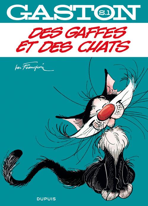 Gaston : Des gaffes et des chats (0), bd chez Dupuis de Jidéhem, Franquin