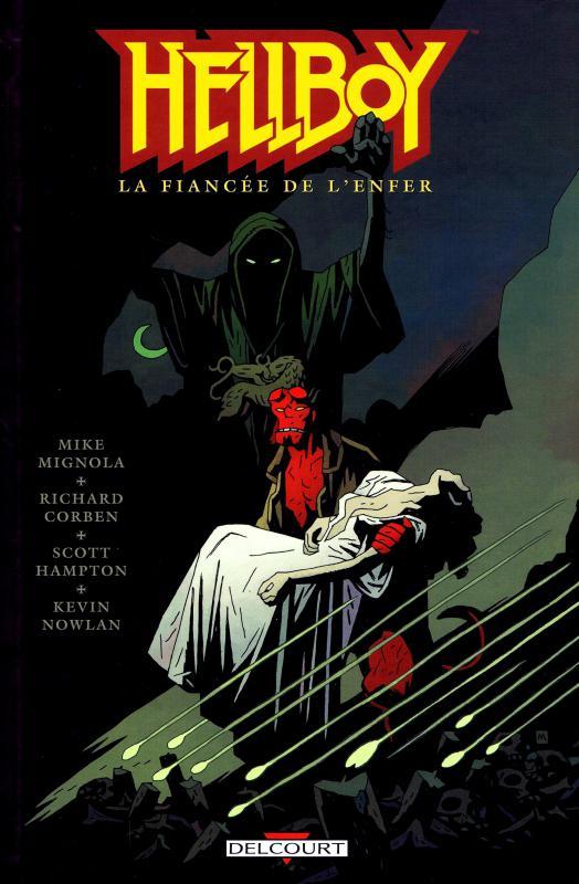 Hellboy T12 : La fiancée de l'enfer (0), comics chez Delcourt de Mignola, Corben, Nowlan, Hampton, Stewart