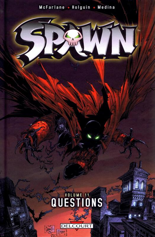 Spawn – Archives, T11 : Questions (1), comics chez Delcourt de McFarlane, Holguin, Medina, Kemp, Haberlin, Capullo