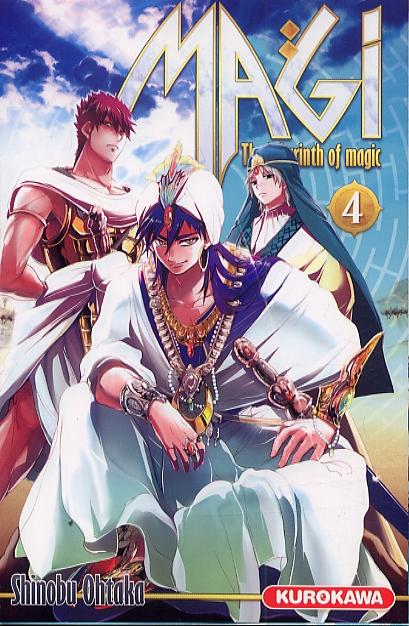 Magi, the labyrinth of magic  T4, manga chez Kurokawa de Ohtaka