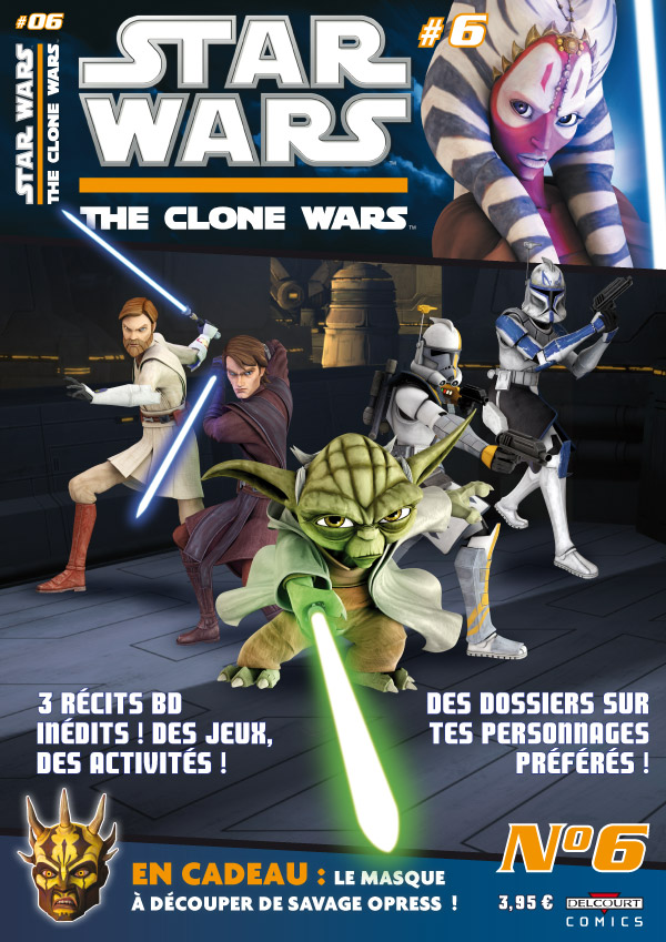 Star Wars (revue) – The clone wars aventures, T6, comics chez Delcourt de Etherington, Rutter, Spiers, Ponce, Digikore studio