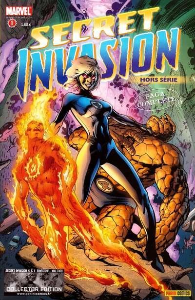 Secret Invasion – Hors série, T1 : Fantastic Four / Young Avengers & Runaways (0), comics chez Panini Comics de Aguirre-Sacasa, Yost, Kitson, Miyazawa, Strain, Sotomayor, Davis