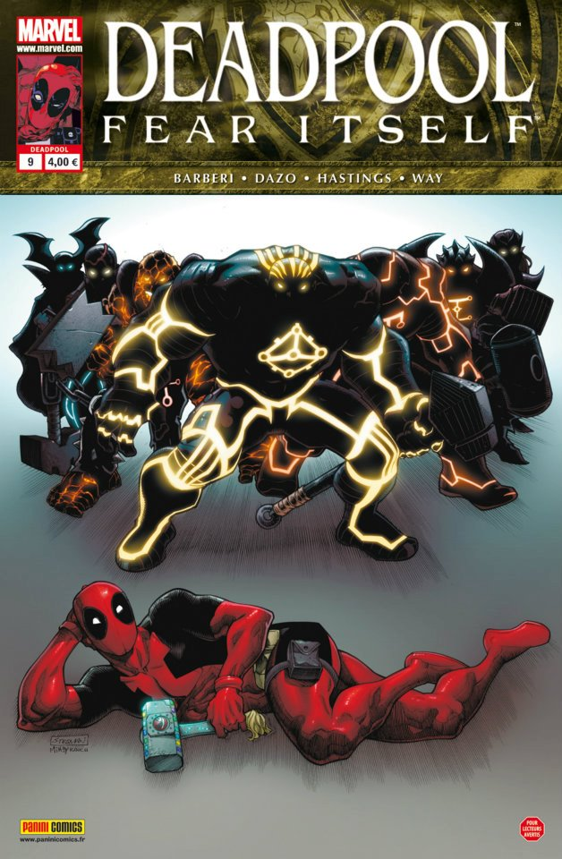 Deadpool (revue) – V 2, T9 : Fear Itself (1/2) (0), comics chez Panini Comics de Hastings, Way, Medina, Dazo, Gracia, Milla, Stegman