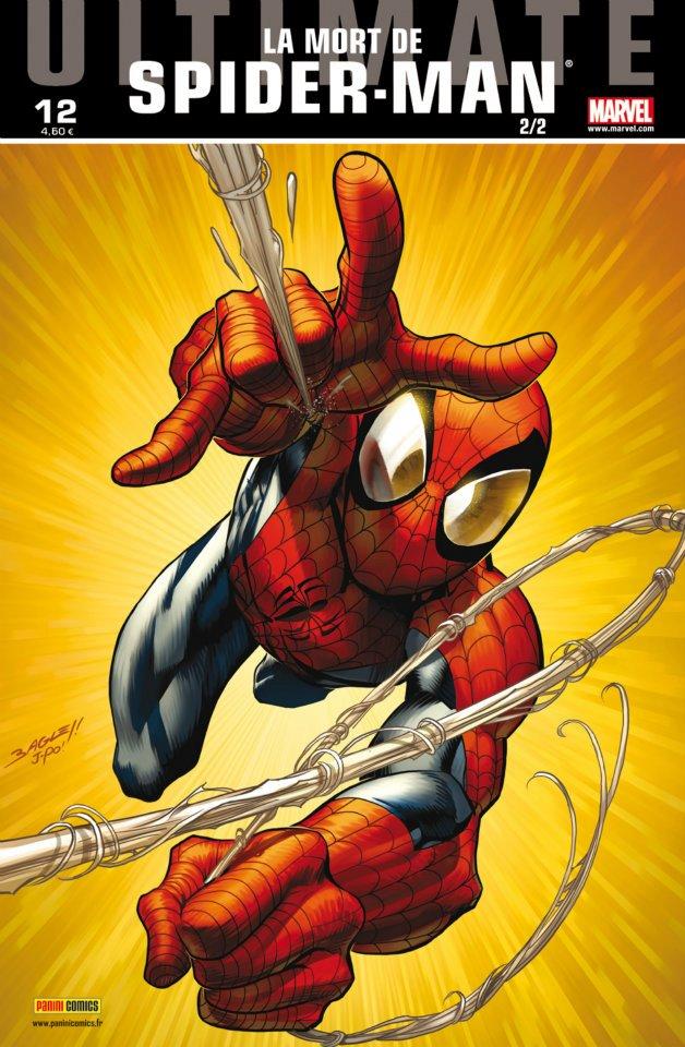 Ultimate Spider-Man (kiosque V2) T12 : La mort de Spider-Man (2/2) (0), comics chez Panini Comics de Bendis, Bagley, Ponsor, Lanning, McGuinness