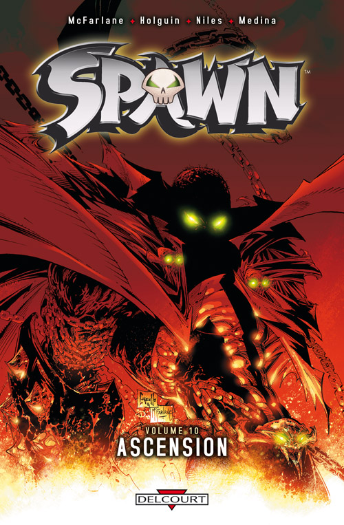 Spawn – Archives, T10 : Ascension (0), comics chez Delcourt de Holguin, McFarlane, Medina, Haberlin, Kemp, Capullo