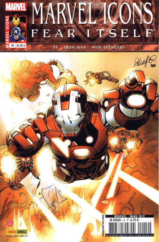 Marvel Icons T14 : Le bruit de la guerre (0), comics chez Panini Comics de Fraction, Hickman, Bendis, Larroca, Deodato Jr, Tocchini, Kitson, d' Armata, Mounts, Beredo