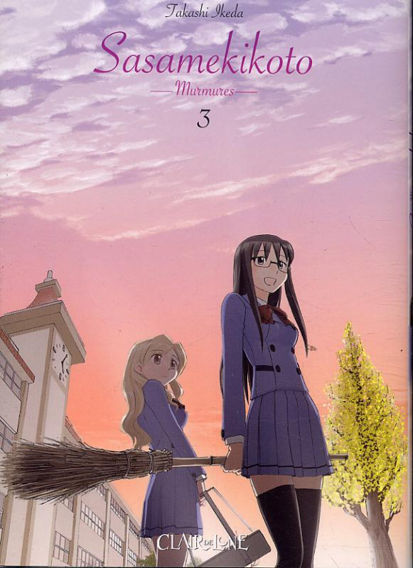 Sasamekikoto - Murmures T3, manga chez Clair de Lune de Ikeda