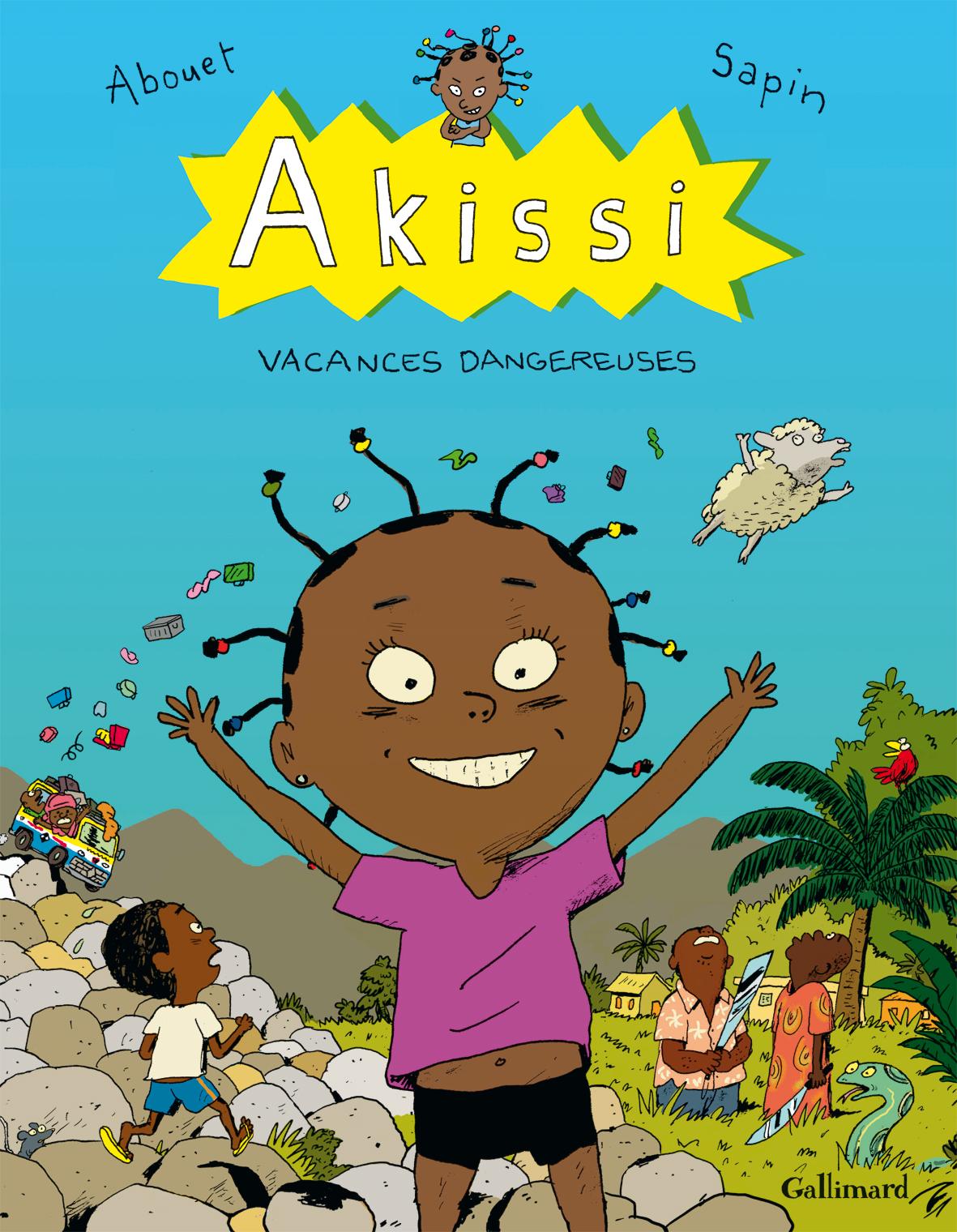 Akissi T3 : Vacances dangereuses (0), bd chez Gallimard de Abouet, Sapin, Clémence