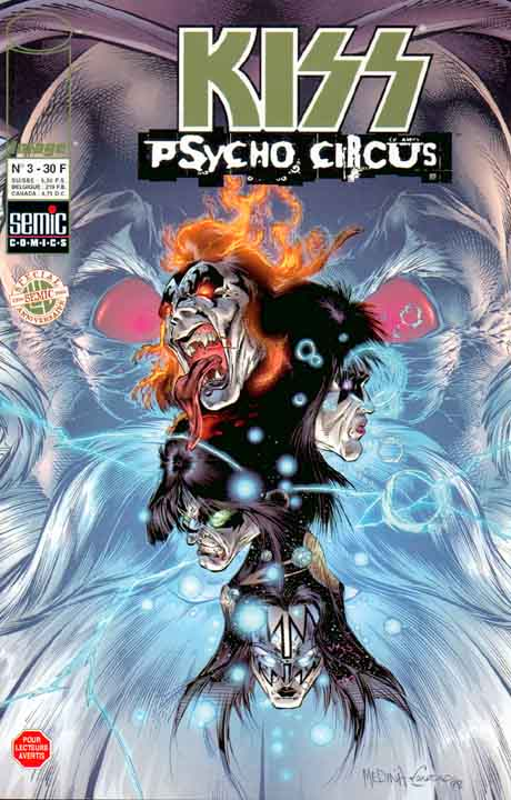 Kiss : Psycho circus T3, comics chez Semic de Holguin, Medina, Kemp, Troy, Haberlin