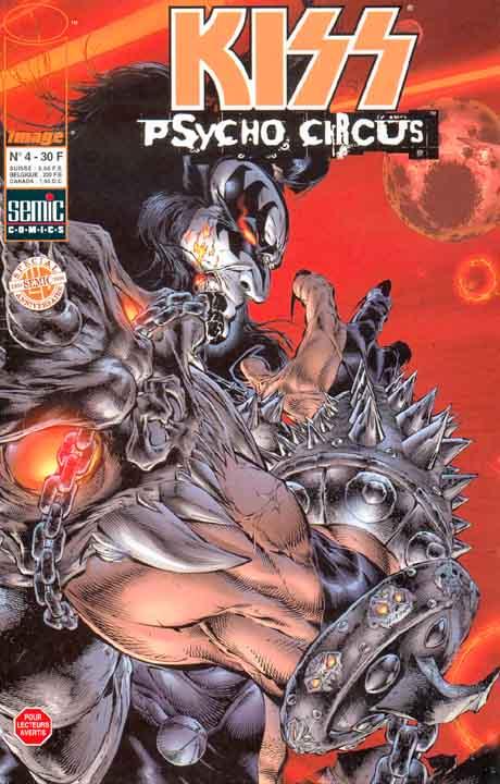 Kiss : Psycho circus T4, comics chez Semic de Holguin, Medina, Kemp, Haberlin, Martin