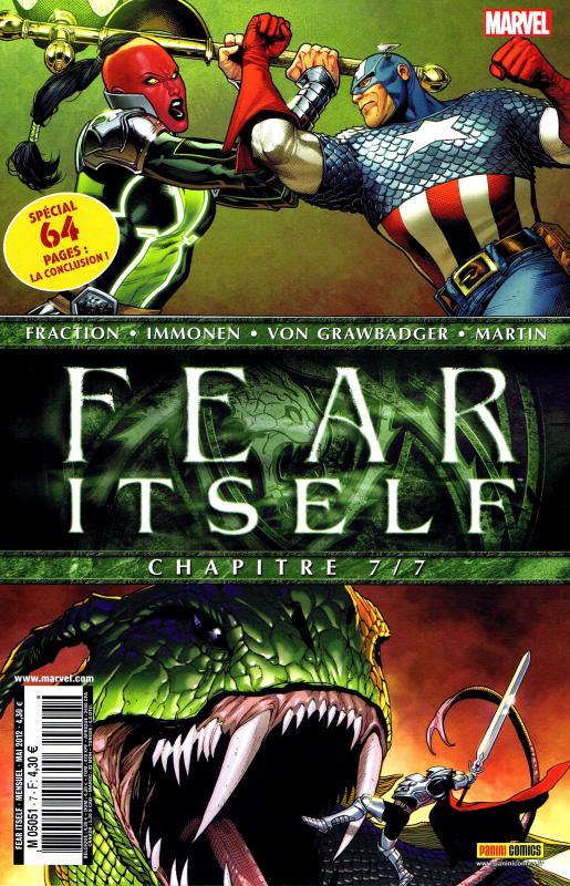 Fear Itself T7 : Thor's day (0), comics chez Panini Comics de Yost, Bunn, Clevinger, Chaykin, Aaron, Fraction, Eaton, Raimondi, Bagley, Dodson, Choi, Immonen, Delgado, Martin, Guru efx, Gandini, Milla, Hollingsworth, Lanning, Ponsor, McNiven