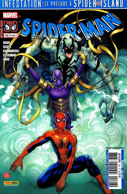 Spider-Man (revue) – V 2, T148 : Le retour d'Anti-Venom (0), comics chez Panini Comics de Gage, Slott, Janson, Rios, Stegman, Fiumara, Camuncoli, Gracia, Delgado, Hollingsworth, Cho