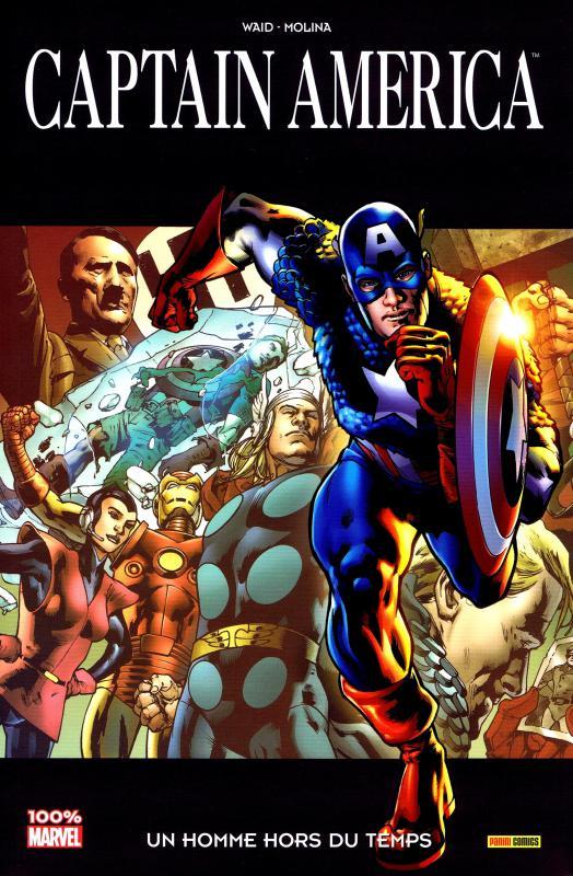 Captain America – 100% Marvel, T5 : Un homme hors du temps (0), comics chez Panini Comics de Waid, Molina, d' Armata, Hitch