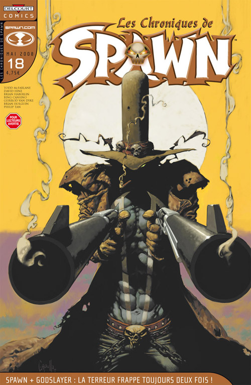 Les chroniques de Spawn T18 : Spawn + Godslayer : la terreur frappe toujours deux fois ! (0), comics chez Delcourt de Hine, Holguin, Cansino, Tan, Van Dyke, Hannin, Capullo
