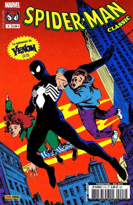Spider-Man Classic T2 : La naissance de Venom (1/2) (0), comics chez Panini Comics de DeFalco, Michelinie, Stern, Frenz, Leonardi, Cullins, Scheele, Tinsley, Wein