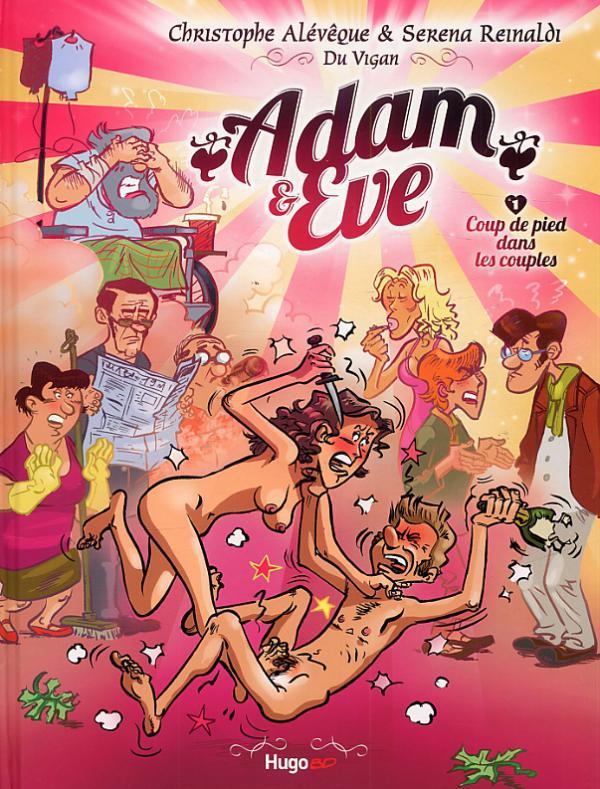 Adam et Eve T1 : Coup de pied dans les couples (0), bd chez Hugo BD de Alévèque, Reinaldi, Duvigan, Lenoble