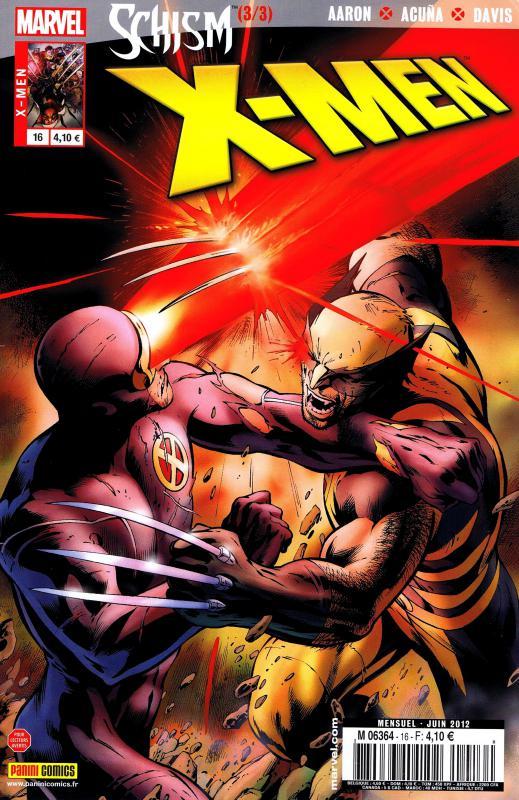 X-Men (revue) – V 2, T16 : Schism (3/3) (0), comics chez Panini Comics de Gillen, Aaron, Davis, Land, Acuña, Kubert, Ponsor, Keith