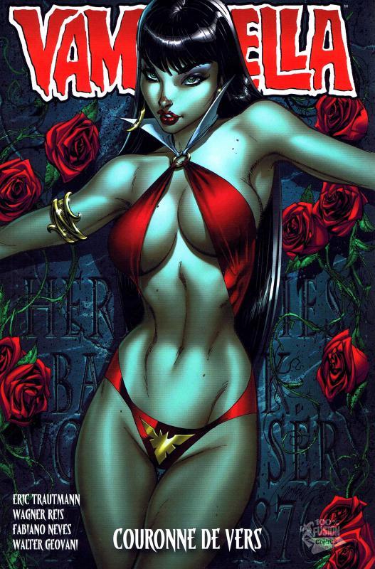 Vampirella T1 : Couronne de vers (0), comics chez Panini Comics de Trautmann, Geovani, Reis, Nunes, Inlight studio, Campbell