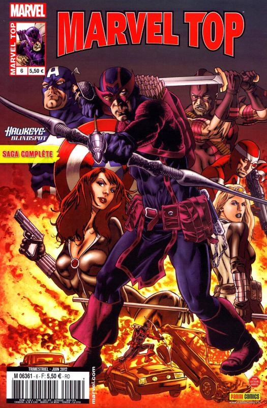 Marvel Top T6 : Cible mouvante - Hawkeye Blindspot (0), comics chez Panini Comics de McCann, Dragotta, Diaz, Simpson, De Landro, Gaudiano, Weeks, Sotomayor, Morey, Hollowell, Perkins