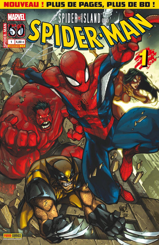 Spider-Man (revue) – V 3, T1 : Spider Island (1/4) (0), comics chez Panini Comics de Slott, Wells, Simons, Caselli, Madureira, Ramos, Nauck, Daniel, Delgado, Mossa, Gracia, Land
