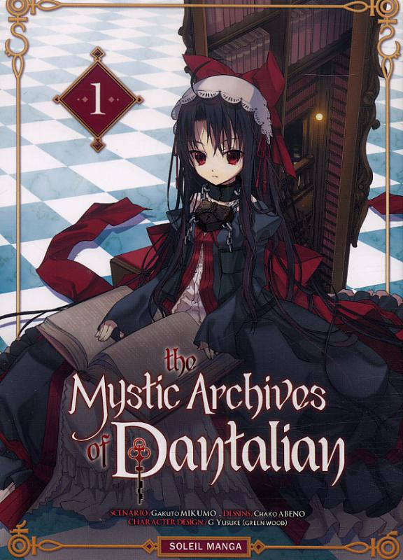 The mystic archives of Dantalian T1, manga chez Soleil de Mikumo, Yusuke (Green Wood), Abeno