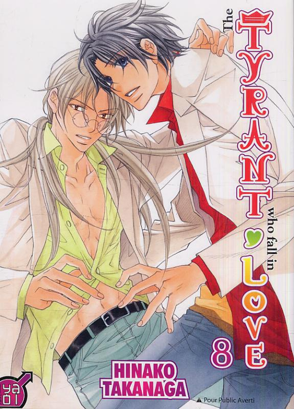 The tyrant who fall in love T8, manga chez Taïfu comics de Takanaga