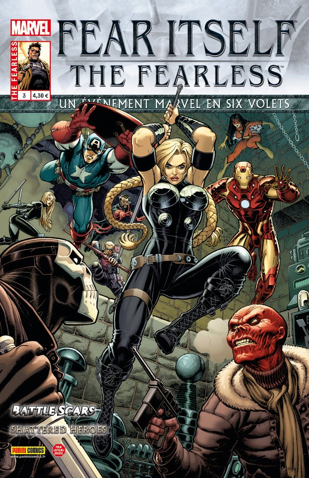 Fear Itself – The Fearless, T3, comics chez Panini Comics de Bunn, Yost, Bagley, Eaton, Pelletier, Wilson, Mounts, Adams