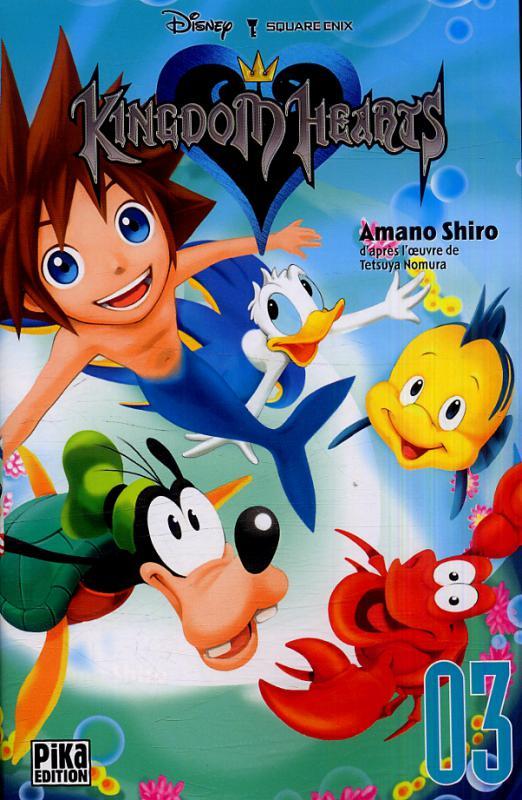 Kingdom hearts  T3, manga chez Pika de Nomura, Shiro
