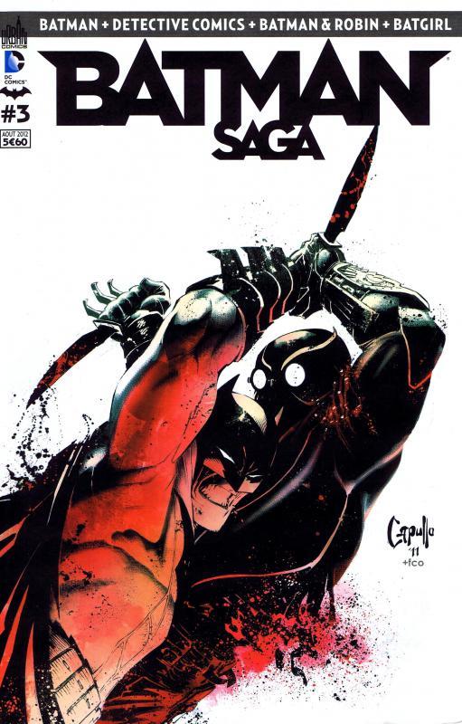 Batman Saga T3, comics chez Urban Comics de Daniel, Tomasi, Snyder, Simone, Gleason, Syaf, Capullo, Arreola, Kalisz, FCO Plascencia, Morey